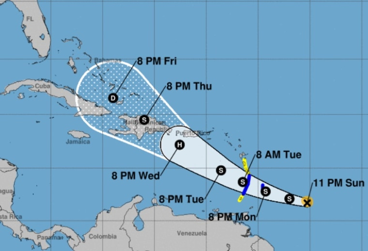 Tropical Storm Dorian could be hurricane when it approaches ...