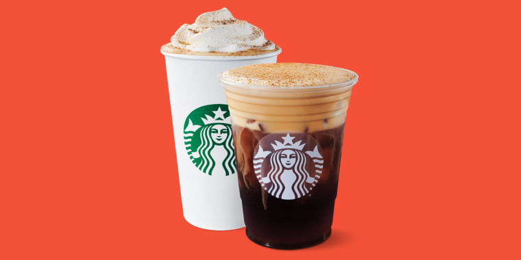 Starbucks Pumpkin Spice Latte and the Pumpkin Cream Cold Brew.