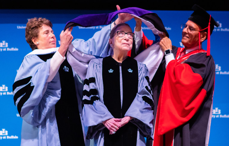 Supreme Court Associate Justice Ruth Bader Ginsburg receives a SUNY Honorary Degree from the University at Buffalo on Aug. 26, 2019, in Buffalo N.Y.