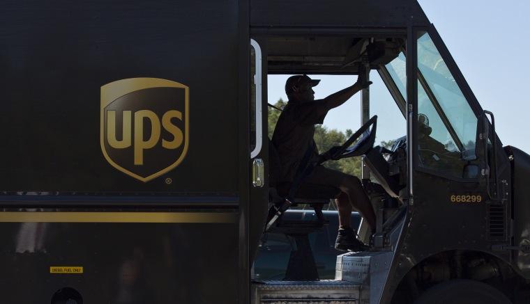 Image: UPS driver