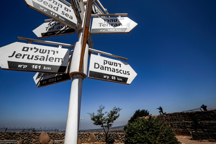 Image: Sign in the Golan Heights