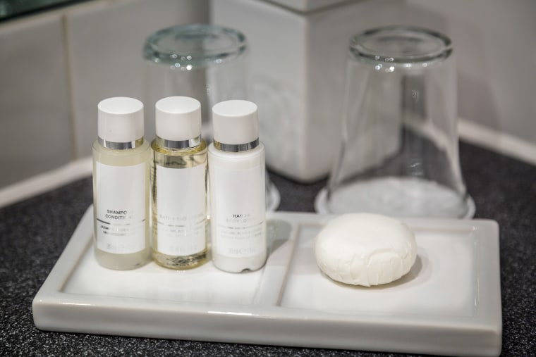 Image: Luxury hotel shampoo and conditioner.