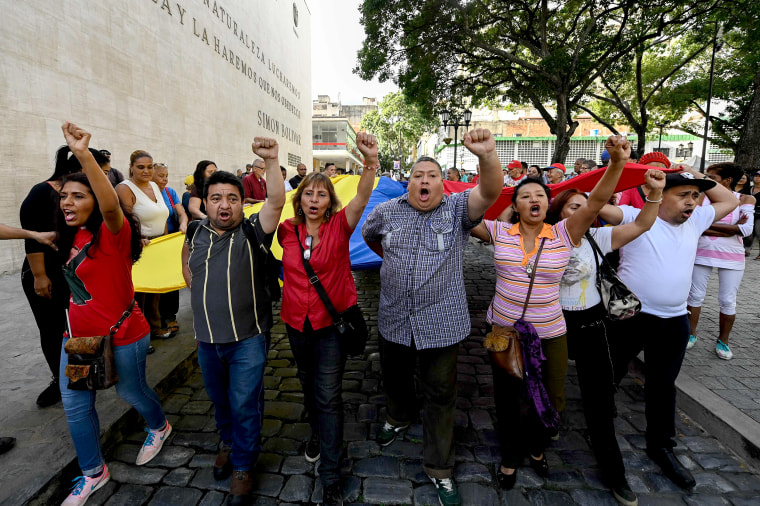 Image: VENEZUELA-US-CRISIS-DEMO-SUPPORTERS