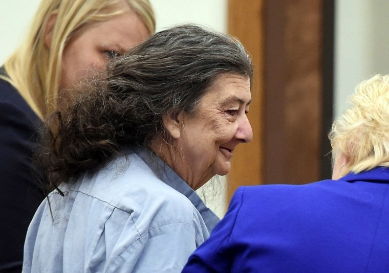 Image: Cathy Woods appears in Washoe District Court in Reno, Nev., in 2014.