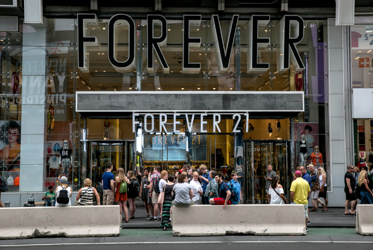 Image: Forever 21 in Times Square in New York on June 10, 2017.