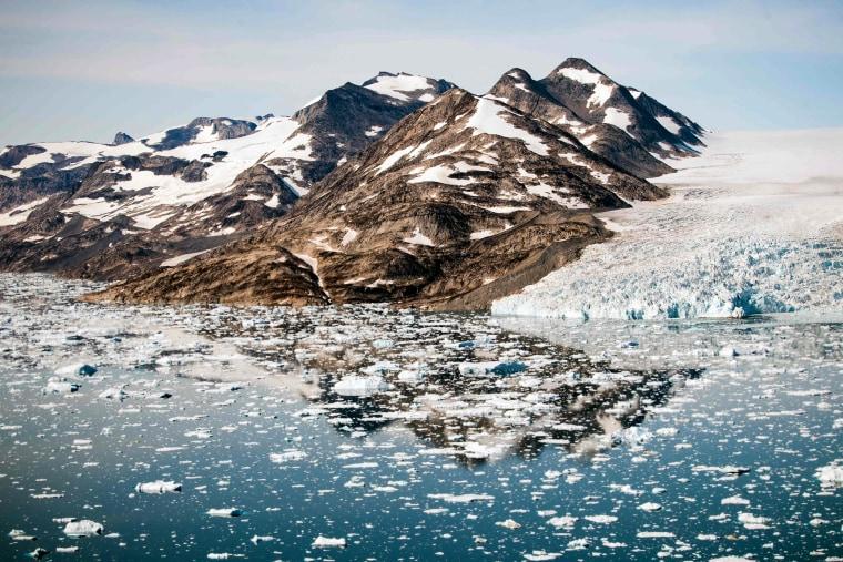 Image: Icebergs float along the eastern coast of Greenland near Kulusuk on Aug. 15, 2019.