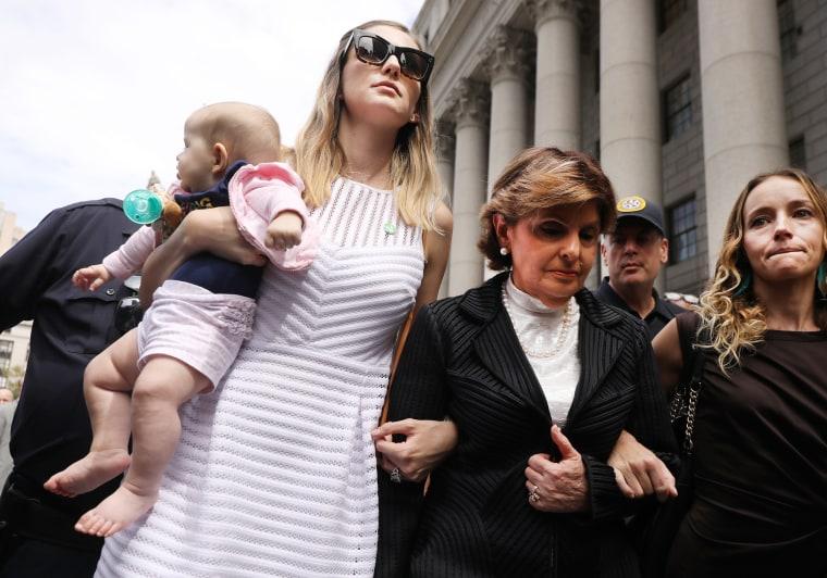 Image: Jeffrey Epstein Accusers Attend Court Hearing In New York