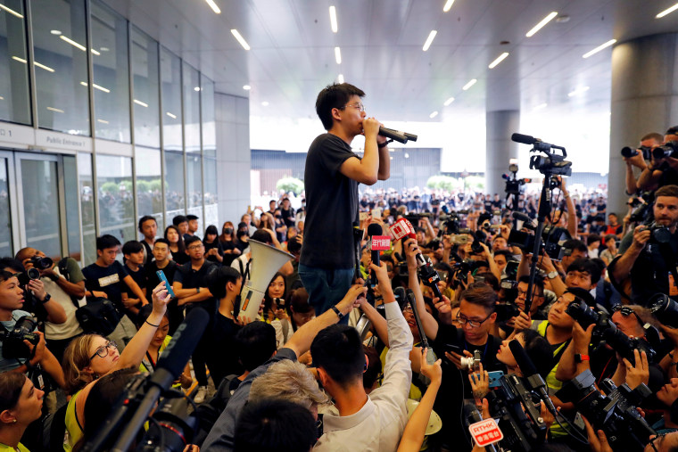Image: FILE PHOTO: Demonstration demanding Hong Kong's leaders to step down and withdraw the extradition bill, in Hong Kong