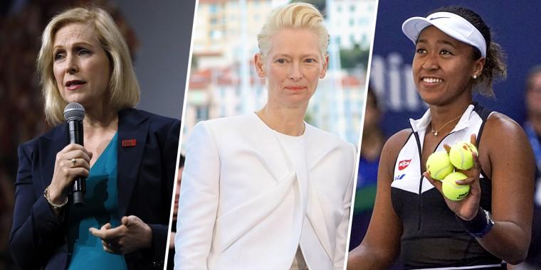 Kirsten Gillibrand, Naomi Osaka and Tilda Swinton.