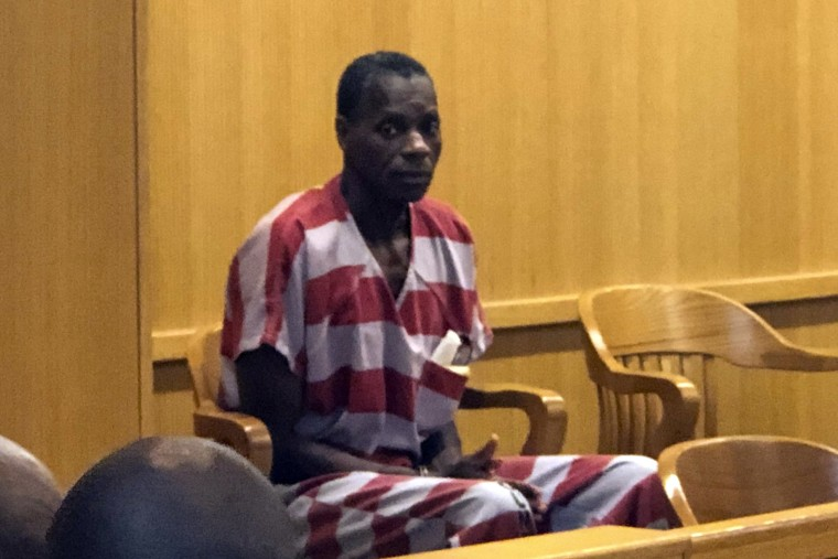 Image: Alvin Kennard sits in the courtroom before his hearing in Bessemer, Ala.