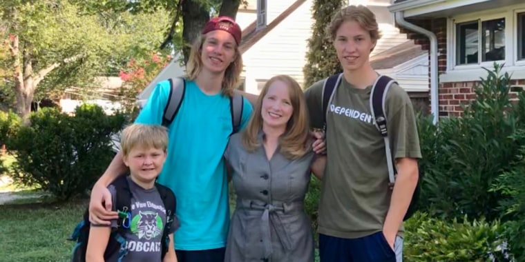 Jennifer Folsom with sons Anderson,12, Will, 17, and Josh 17.