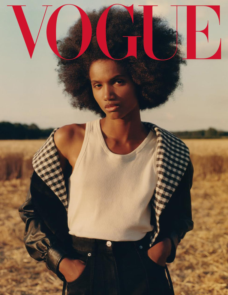Ambar Cristal Zarzuela is one of four Afro-Dominican models featured on Vogue Mexico and Latin America's September cover