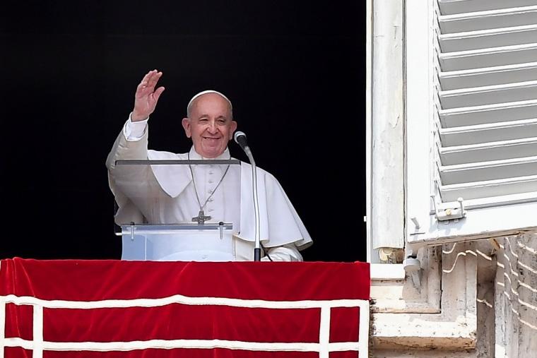 Image: VATICAN-POPE-ANGELUS