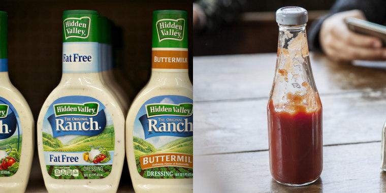 Ranch dressing maker Hidden Valley says ranch is more popular than ketchup.