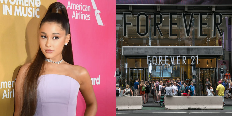 Ariana Grande is suing Forever 21 for $10 million.
