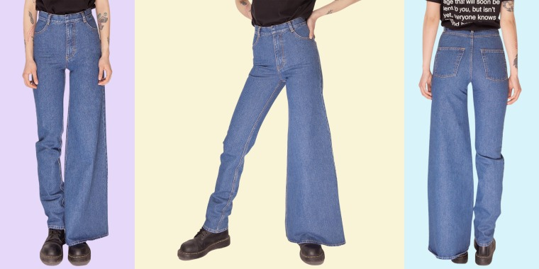 Would you ever wear asymmetrical jeans? See the trend that's