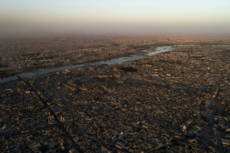 Image: The Tigris River separates Mosul, Iraq, on June 29, 2017.