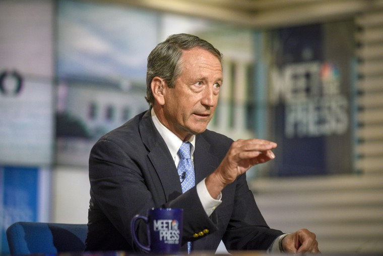 """Former Rep. Mark Sanford appears on """"Meet the Press"""" on Aug. 18, 2019."""