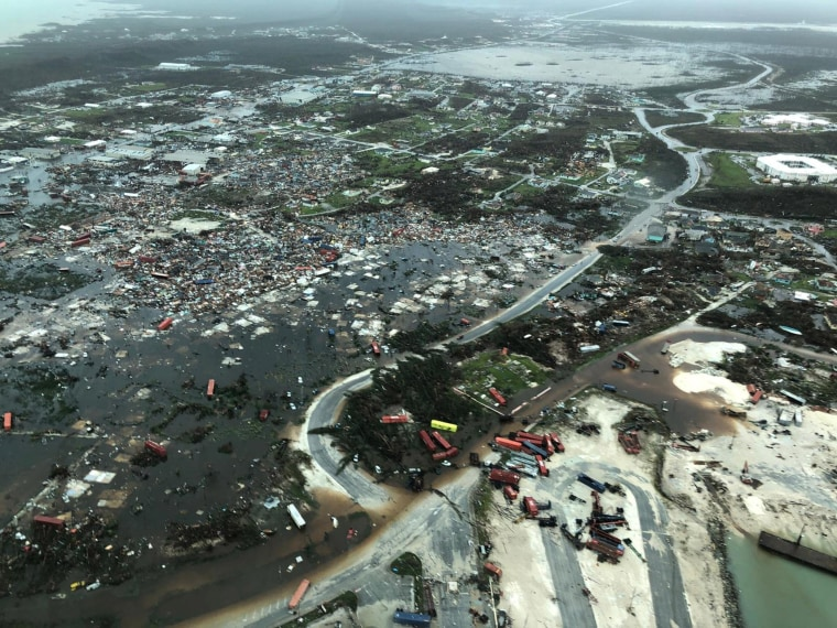 Image: Aerial view shows devastation after hurricane Dorian hit the Abaco Islands in the Bahamas