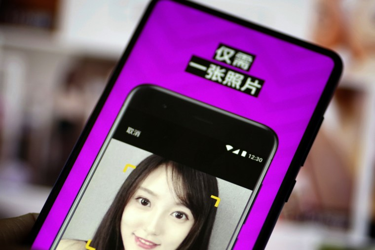 A face-swapping app takes off in China, making AI-powered