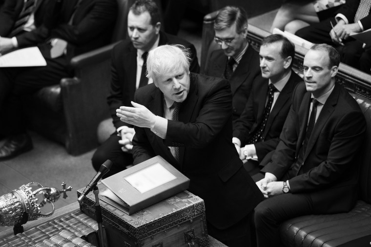 Image: Britain's Prime Minister Boris Johnson speaks during PMQs session in the House of Commons in London