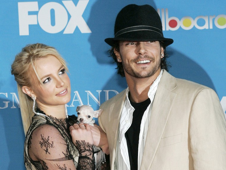 Image: File photo of Britney Spears and Kevin Federline at 2004 Billboard Music Awards in Las Vegas