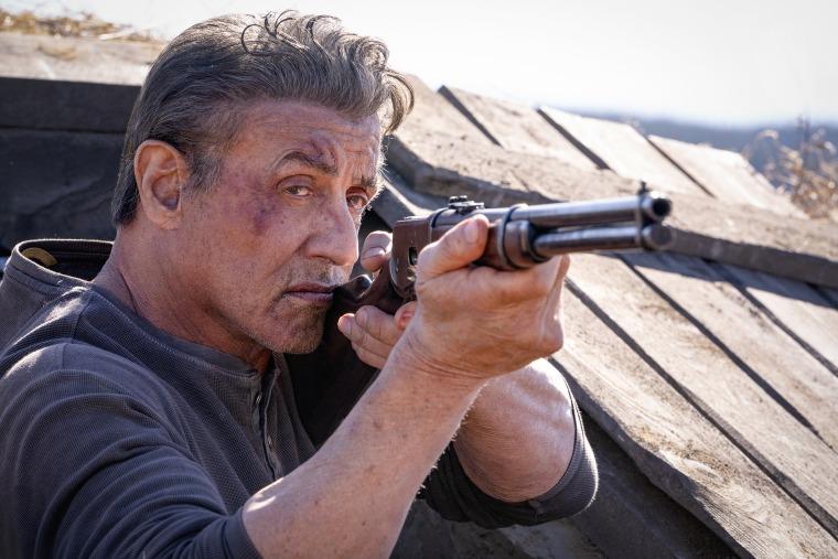 """Sylvester Stallone on the set of """"Rambo: Last Blood."""""""