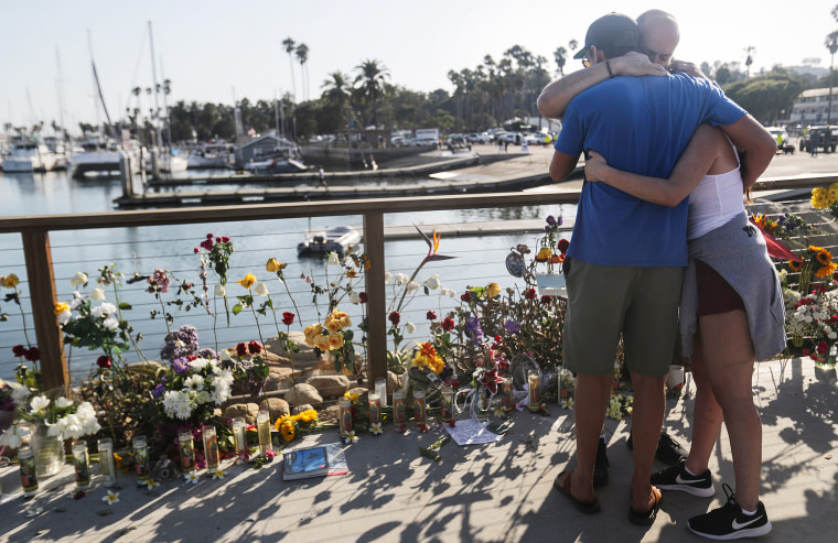Image: *** BESTPIX *** Multiple Fatalities In Boat Fire Near Santa Cruz Island