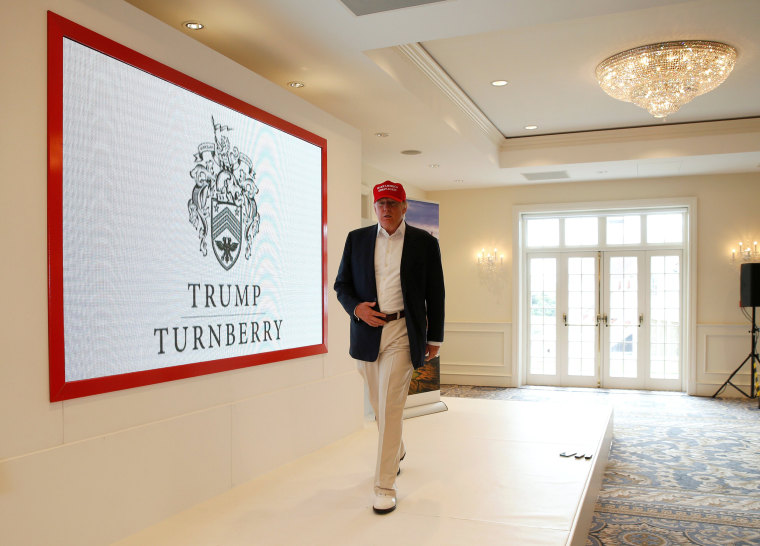 Image: Donald Trump, RICOH Women's British Open 2015