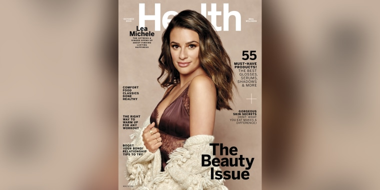 """The """"Glee"""" actress, 33, is glowing on the October cover of Health magazine, but the actress revealed her wellness journey hasn't always been easy."""