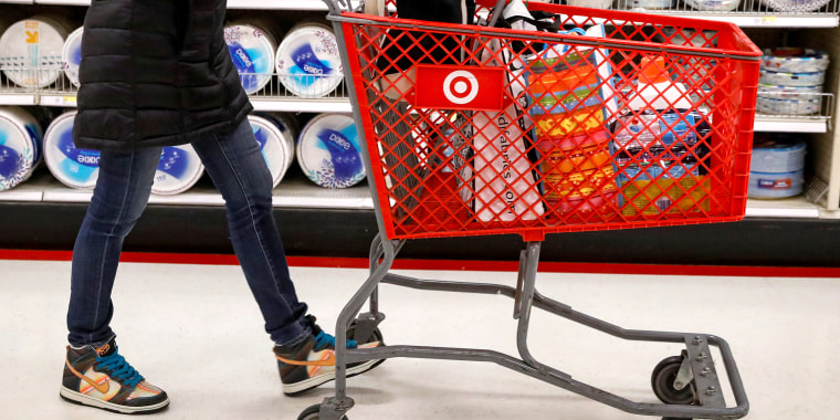 A shopper is seen in a Target store in the Brooklyn borough of New York