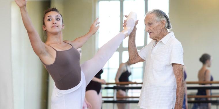 Henry Danton, a 100-year-old ballet teacher.
