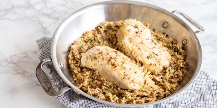 One-Pot Chicken and Wild Rice in Honey Mustard Sauce