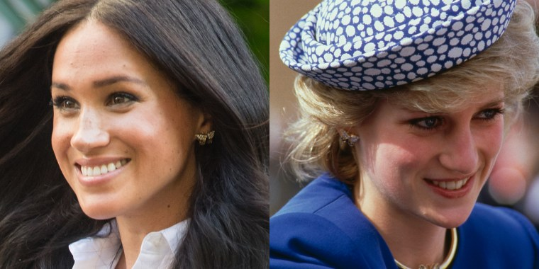 It's not the first time the former Meghan Markle has worn Diana's jewelry.