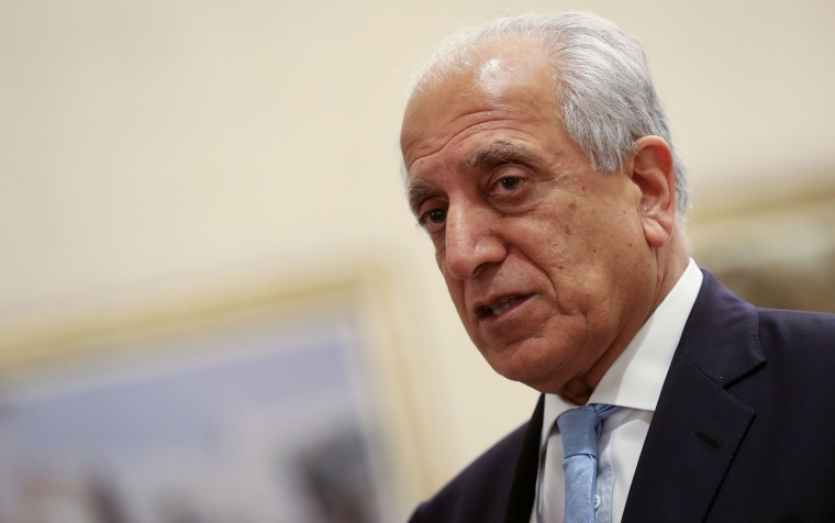 Image: U.S. Special Representative for Afghanistan Reconciliation Zalmay Khalilzad attends the Intra Afghan Dialogue talks in the Qatari capital Doha
