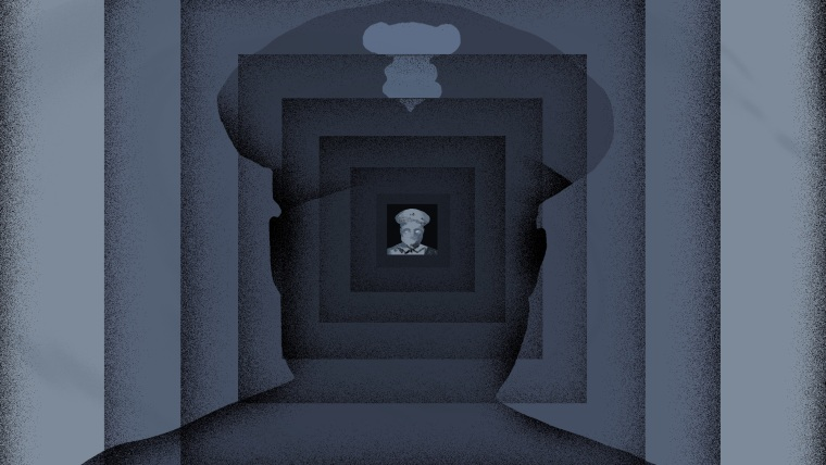 Illustration of police officer silhouette inside of an expanding box.