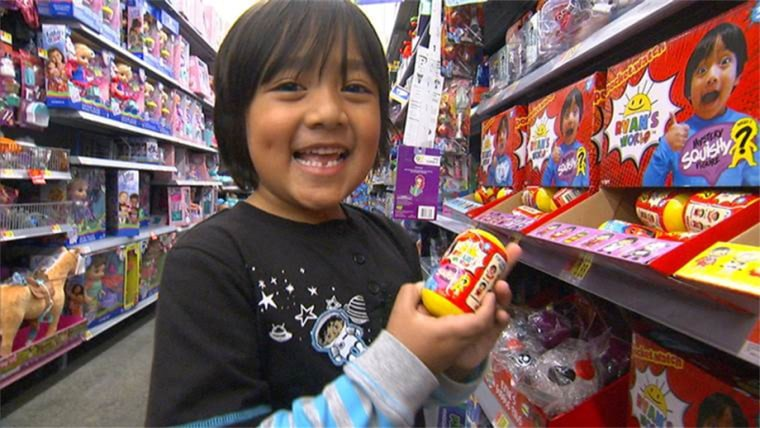 Image: Ryan, 7, is the face of the Ryan ToysReview YouTube channel.