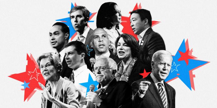 Image: Tonight's debate will feature Democratic candidates Beto O'Rourke, Kamala Harris, Julian Castro, Cory Booker, Amy Klobuchar, Andrew Yang, Petet Buttigieg, Elizabeth Warren, Bernie Sanders and Joe Biden.
