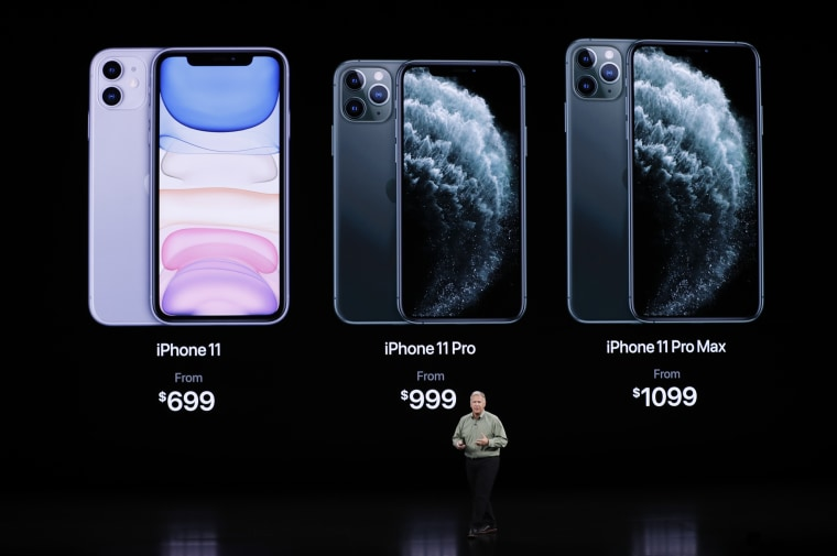 Image: Phil Schiller presents the new iPhone 11 Pro at an Apple event at their headquarters in Cupertino