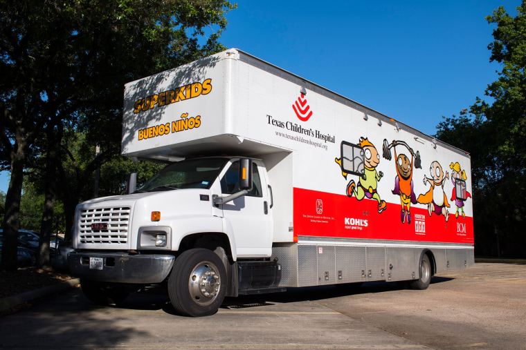 In Texas, mobile units treat children, teens affected by Hurricane Harvey