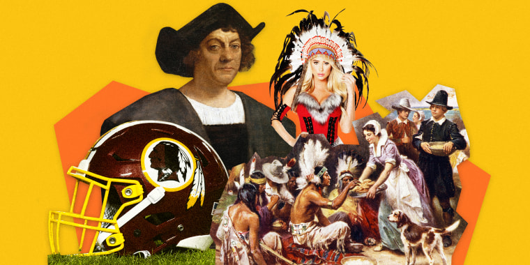 Image: Christopher Columbus, racist Halloween costumes and football mascots, the lie that is Thanksgiving -- just a few reasons why autumn is actually the worst.