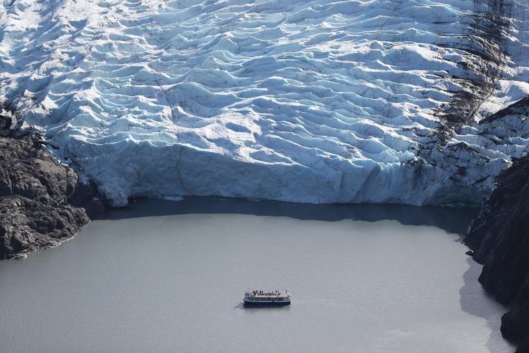 Image: BESTPIX - Scientists Study Ice Melt On The Wolverine Glacier In Alaska