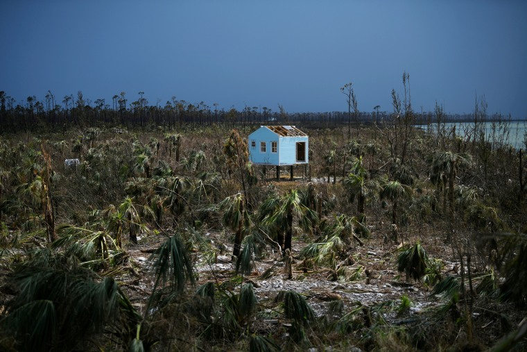 Image: A destroyed house is seen in the wake of Hurricane Dorian in Marsh Harbour