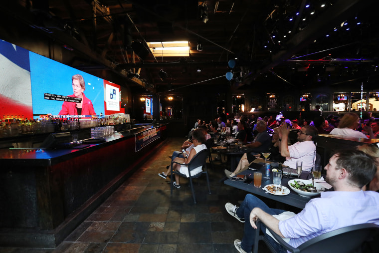 Image: L.A. Area Residents Watch Democratic Presidential Candidates In Third Debate