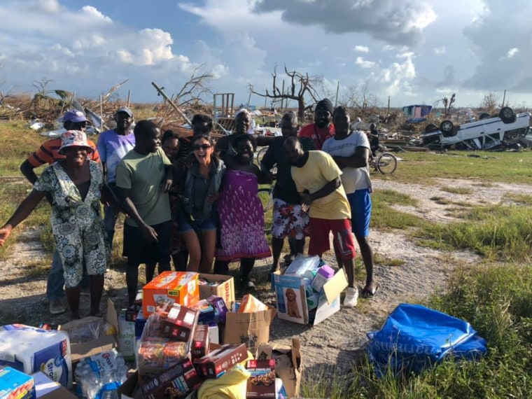 Helicopter pilot discovers villagers stranded in debris in the Bahamas