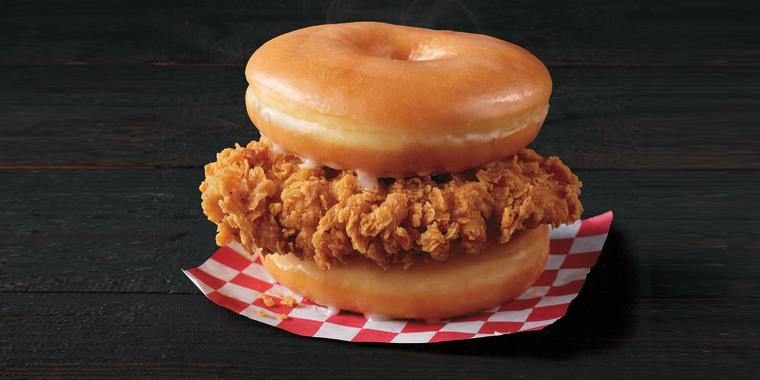 KFC just unveiled a fried chicken sandwich with doughnuts