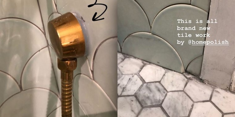 Blogger Ilana Wiles shared these photos of her bathroom renovation gone wrong.