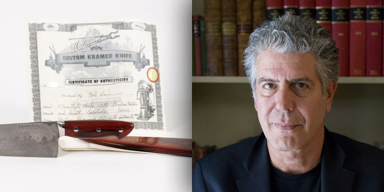 The majority of the sales will benefit a scholarship established to help students at Anthony Bourdain's alma mater.