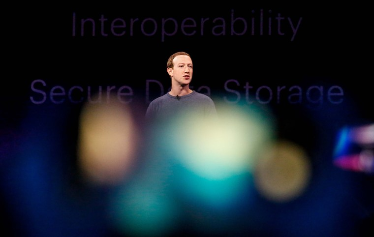 Image: Facebook CEO Mark Zuckerberg delivers the opening keynote at the Facebook F8 Conference in San Jose