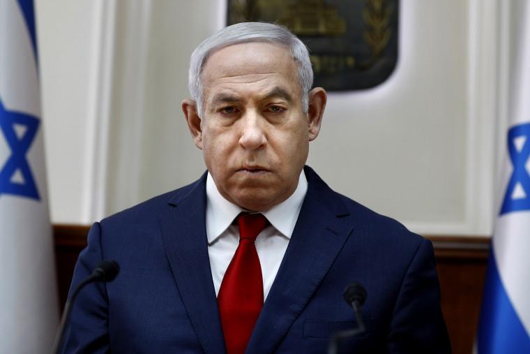 Image: Israeli Prime Minister Benjamin Netanyahu in his office in Jerusalem on Feb. 10, 2019.